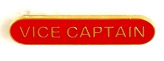 Bar Badge Vice Captain Red (New 2010)