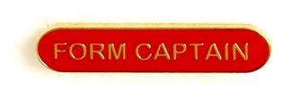 Bar Badge Form Captain Red (New 2010)