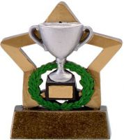 Mini Star Cup Trophy Award Silver - 3.25 Inch - New 2015