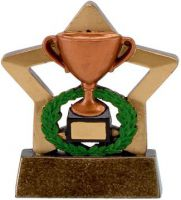 Mini Star Cup Trophy Award Bronze - 3.25 Inch - New 2015