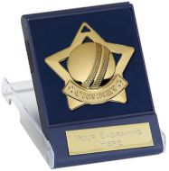 Mini Star Cricket Medal with Medal : 60mm Dia : New 2015