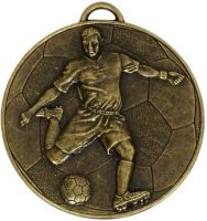 Helix60 Footballer Medal Bronze 60mm