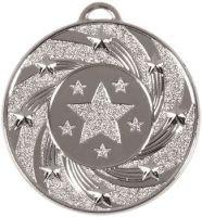 Target50 Star Medal Silver 50mm