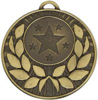 Target50 Wreath Medal Bronze 50mm