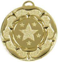 Target50 Tudor Rose Medal Gold 50mm
