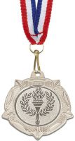 Vf40 Tudor Rose With Free Red White And Blue Ribbon 10mm Silver 40mm