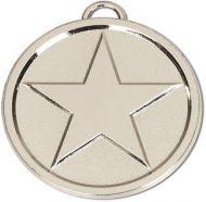 Star50 Bright Medal Silver 50mm