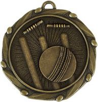 Combo Cricket Medal and Ribbon - 45mm - New 2015