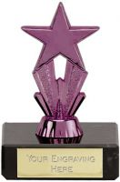 Micro Star Purple Trophy - 3.25 Inch - New 2015