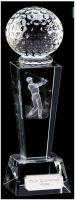 Unite Male Golfer Optical Crystal - 7 Inch - New 2015