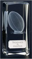 Clarity4 Crystal Rugby - 4 1 2 Inch - New 2015