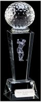 Unite Female Golfer Optical Crystal - 8.5 Inch - New 2015