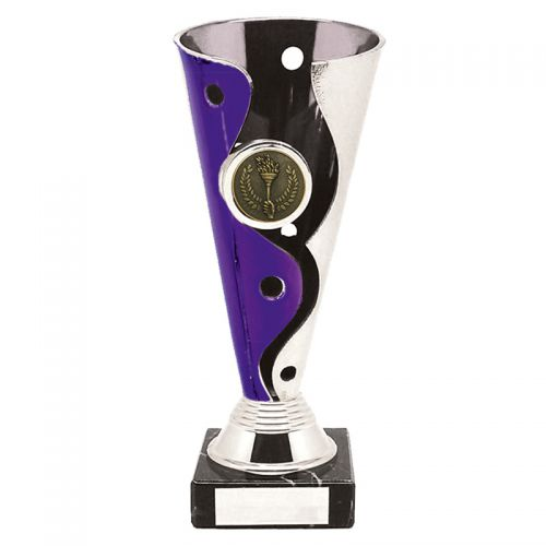 Carnival Silver Purple Trophy