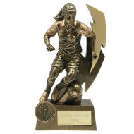 Gold Flash Female Footballer