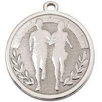 GALAXY Running Medal Silver 45mm