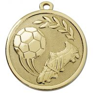 Galaxy Football Boot and Ball Medal Gold 45mm