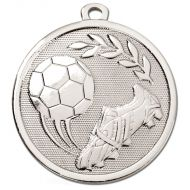 Galaxy Football Boot and Ball Medal Silver 45mm