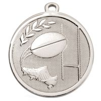 GALAXY Rugby Medal Silver 45mm