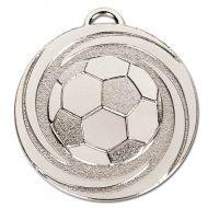 Target Twirl Football Medal Silver 50mm