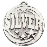 Target Silver Medal Silver 50mm