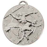 Target Track and Field Medal Silver 50mm