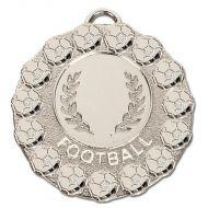 Fiesta Football Medal Silver 50mm