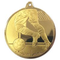 Frosted Glacier Football Medal Gold 50mm