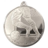 Frosted Glacier Football Medal Silver 50mm