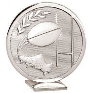 Global Rugby Silver Silver 60mm