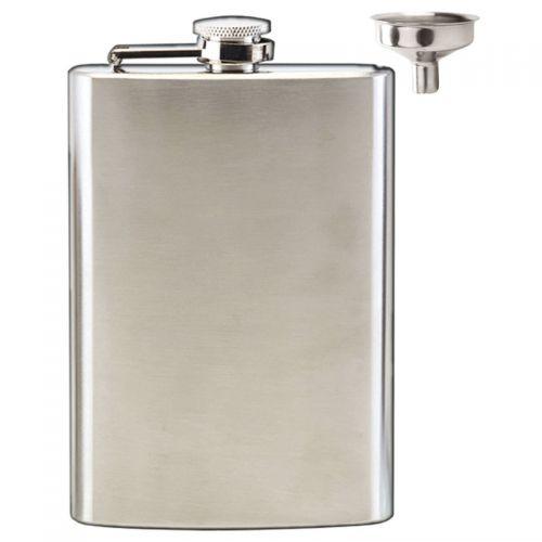 Vision Satin Polish 8oz Flask Satin Stainless Steel 8oz