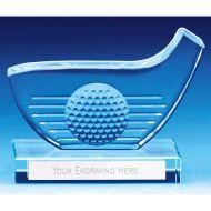 Golf Club And Ball Glass