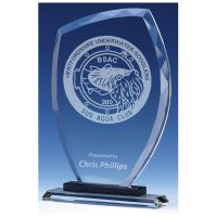 Euphoria Jade Glass Clear Black 8 Inch