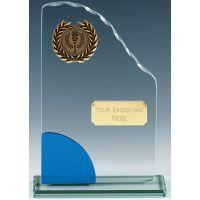 Prima Glass Clear Blue 6.5 Inch