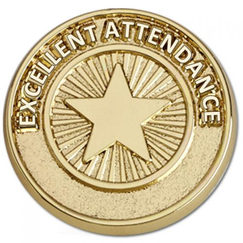 Attendance Pin Badge
