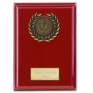 Event Red Plaque Bold Red 5 Inch