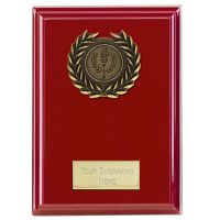 Event Red Plaque Bold Red 6 Inch