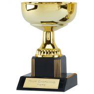 Westbury5 Gold Presentation Cup Trophy Award Gold 5.25 Inch