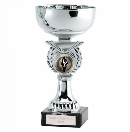Crusader6 Silver Presentation Cup Trophy Award Silver 6 Inch