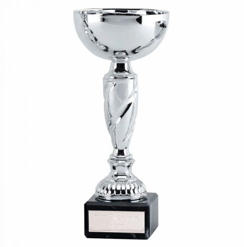 Noble7 Presentation Cup Trophy Award Silver 6.75 Inch