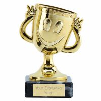 Happy Cup Trophy Award Gold 4 3 8 Inch (11cm) - New 2019