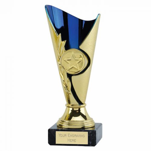 Monaco Cup Trophy Award Gold Blue 6 1 8 Inch (15.5cm) - New 2019