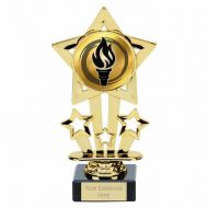 Super Star Gold Holder On Marble 6.75 Inch (17cm) - New 2019