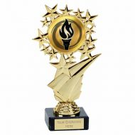 Star Halo Gold Holder On Marble 6.75 Inch (17cm) - New 2019