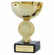 Rosette Gold Cup Trophy Award 4.75 Inch (12cm) - New 2019