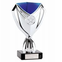 Cape Cup Trophy Award Silver Blue 6.75 Inch (17cm) - New 2019