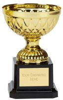 Tweed Mini Presentation Cup Trophy Award Gold 4.75 Inch (12cm) : New 2020