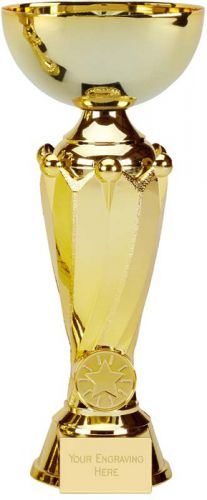 Tower Gold Presentation Cup Trophy Award 8 7/8 Inch (22.5cm) : New 2020