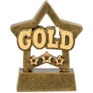 Mini Star Gold - Aggt - 3 1 8 Inch (8cm)- New 2018