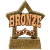 Mini Star Bronze Award Trophy - AGBT - 3 1/8 inch (8cm) - New 2018