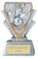 Ten Pin Bowling Trophy Award Mini Presentation Cup Trophy Award 3 3/8 Inch (8.5cm) : New 2020